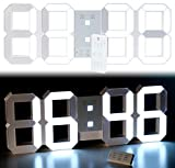 Lunartec LED Reloj habitación: Reloj Digital de Mesa y Pared LED XXL, 45 cm, Regulable Despertador, Control Remoto (XXL Reloj Digital)