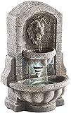 infactory Springbrunnen: Beleuchteter Zimmerbrunnen Löwenkopf mit LED und Pumpe (Leuchtender...