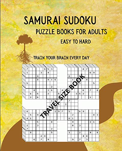 Samurai Sudoku Puzzle Books for Adults Easy to...