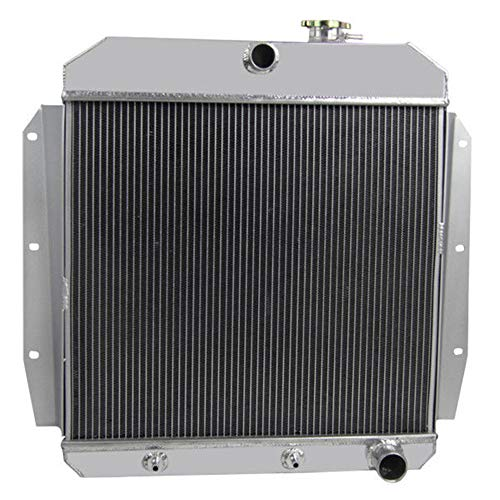 OzCoolingParts 55-59 Chevy GMC C/K Series Radiator, 2 Row Core Aluminum Radiator for 1955-1959 1956 1957 58 Chevrolet GMC Apache 3100 3200 3400 3500 3600 3800 Truck Pickup, L6/V8