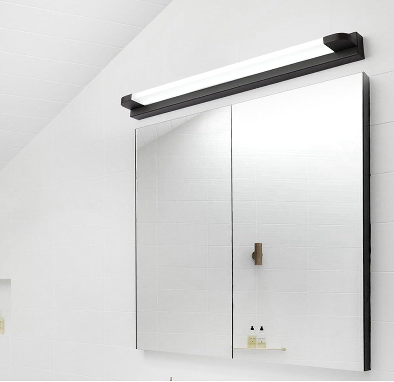 SJUN Spiegellicht LED Badezimmer Wandleuchte Make-up Schminktisch Spiegelschrank Lampe, Wandbild füllen Licht (Farbe   schwarz Warm Weiß-14W 66CM)