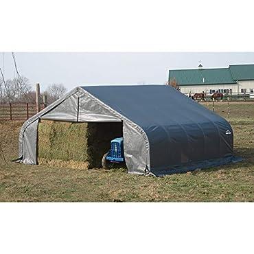 ShelterLogic 22Ft.W Peak Style Instant Garage 24ft.L x 22ft.W x 11ft.H, Model Number 78631