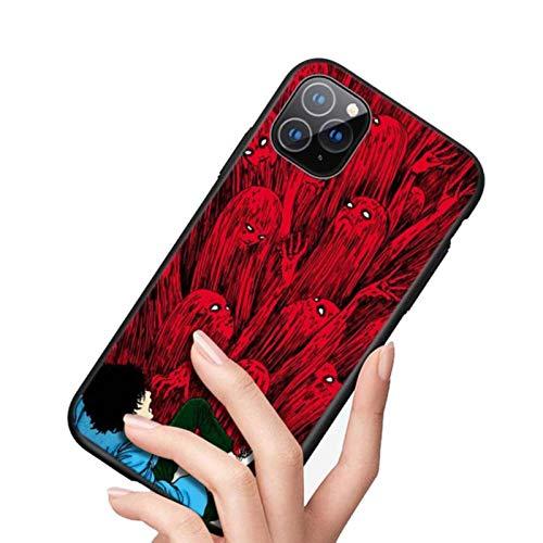 For iPhone 12 11 Pro MAX Mini Case Junji Ito Horror for iPhone MAX XR X 8 7 Plus Bright Black Phone Case