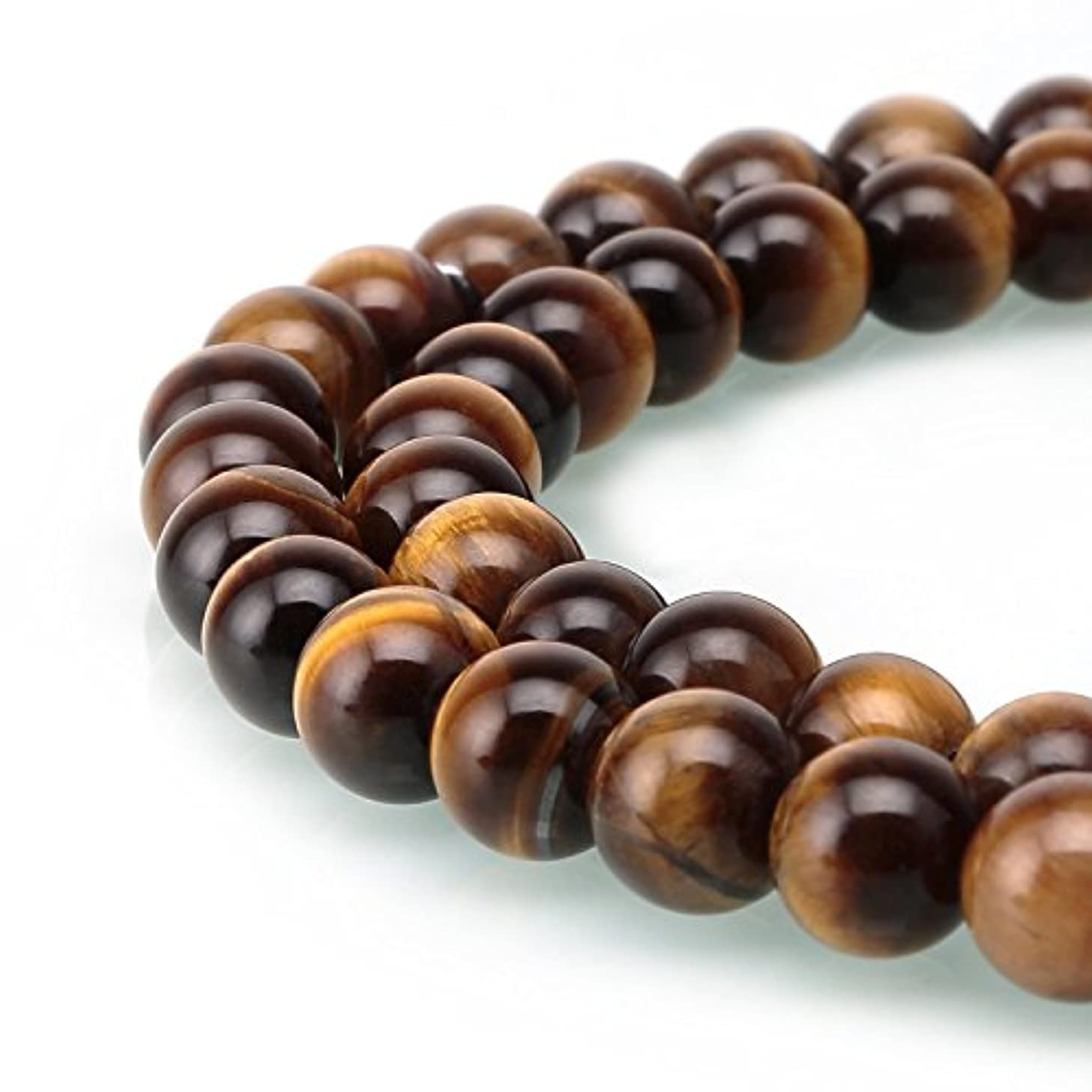 Shopping_Shop2000 Natural 12mm Round Yellow Brown Golden Tiger Eye Stone A Grade Gemstone Loose Beads 1 Strand 15.5