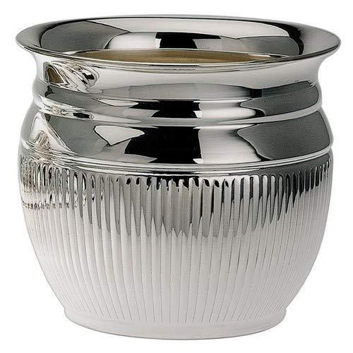 Bloempot Queen Anne H 9 cm, D binnen 10 cm zilver verzilverd in topafwerking