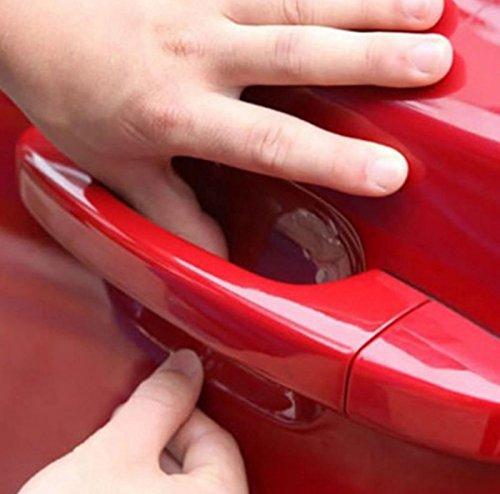 4x Stück Lackschutzfolie gegen Kratzer für Auto-Türgriffe Griffschalen Griffmulden und Türgriffmulden Aufkleber Sticker transparent - für jedes Fahrzeug passend INION