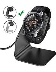 CAVN oplader Compatibel met Samsung Galaxy Watch 46 mm / 42 mm/Gear S3 inductief laadstation (150 cm / 4,9 ft) vervanging USB aluminium laadkabel snellader lader dock voor Galaxy Watch/Gear S3