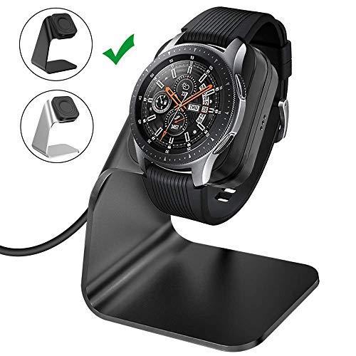 CAVN Ladegerät Kompatibel mit Samsung Galaxy Watch 46mm /42mm /Gear S3 Induktive Ladestation, (Nicht für Galaxy 3 /Active 2) 4.9ft Ersatz USB Aluminium Ladekabel Lade Dock für Galaxy 46mm 42mm
