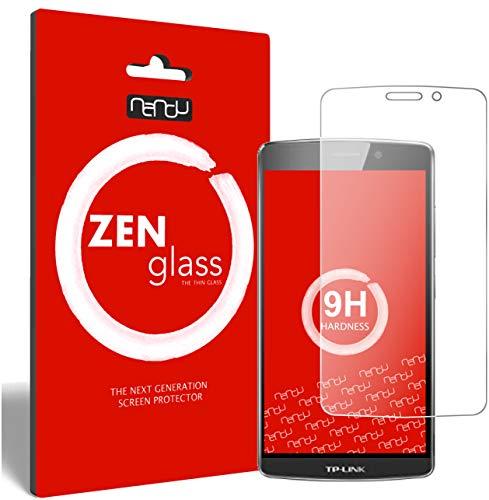 ZenGlass (2 Stück Flexible Glas-Folie kompatibel mit TP-Link Neffos C5 Max Panzerfolie I Bildschirm-Schutzfolie 9H