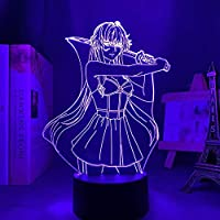 BGHDIDDDDD ランプ小さなナイトライトナイトライトイリュージョン寝室の装飾のためのナイトライトを導いたナイトライト3Dランプ16色+リモコン,N29