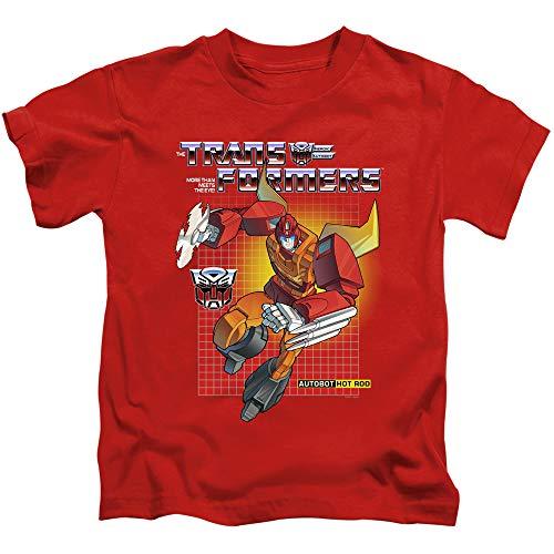 Transformers Boys T-Shirt Hot Rod Red Tee, 4