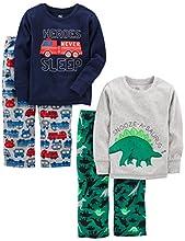 Simple Joys by Carter's Pijama para niños pequeños y niños pequeños, 4 piezas ,Dino/Firetruck ,5T