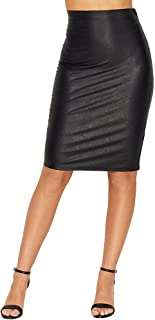 Women's Faux Leather Perfect Pencil Skirt SK01