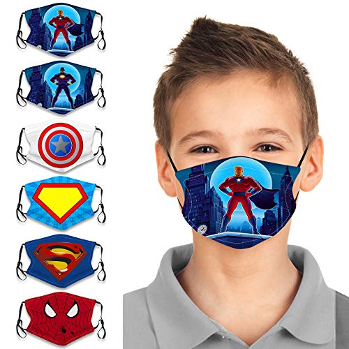 AIHOU 50PCS Kids Disposable Face Mask 3Ply Non-Woven Earloop Breathable Comfortable Cute Cartoon Cloth Protective Masks Childrens Kids Face Masks Party School Indoor