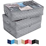 NEATERIZE Under Bed Storage Bags   3-Pack Underbed...
