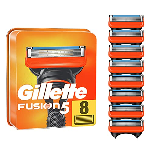 Gillette Fusion 5 Rasierklingen, 8 Rasierklingen pro Packung, mit Anti-Irritations-Klingen für bis zu 20 Rasuren pro Klinge, aktuelle Version