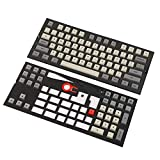 Moon Landing XDA Profile PBT 121 165 Keys Dye Sub Dye Sublimated Keycap Set Suitable for ANSI MX Switches Mechanical Keyboard (Only Keycap) (Space Gray 109 Keys)
