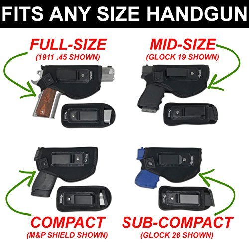 3. Concealed Carrier - Universal IWB Holster for Concealed Carry
