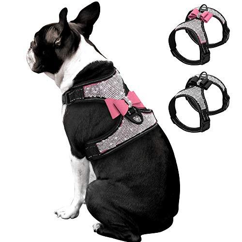 Beirui Rhinestone Dog Harness