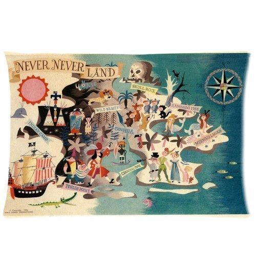 Neverland Peter Pan Hot Koop Winkel Aangepaste Aangepaste Katoen & Polyester Zachte Rechthoek Kussen Hoes 20X30