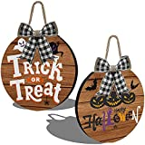 JoytPlay 2Pezzi Happy Halloween Decorazioni Pendenti Dolcetto o Scherzetto Decorativo Porta Appendere per Festa di Halloween