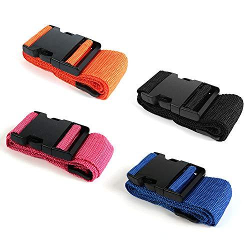 AODOOR Koffergurt, 4 Stück Gepäckgurt Einstellbare Kofferband Travel Accessories Kofferband Gepäckband zum Sicheren Verschließen der Koffers auf Reisen und Kennzeichnen von Gepäck - 4 Farben