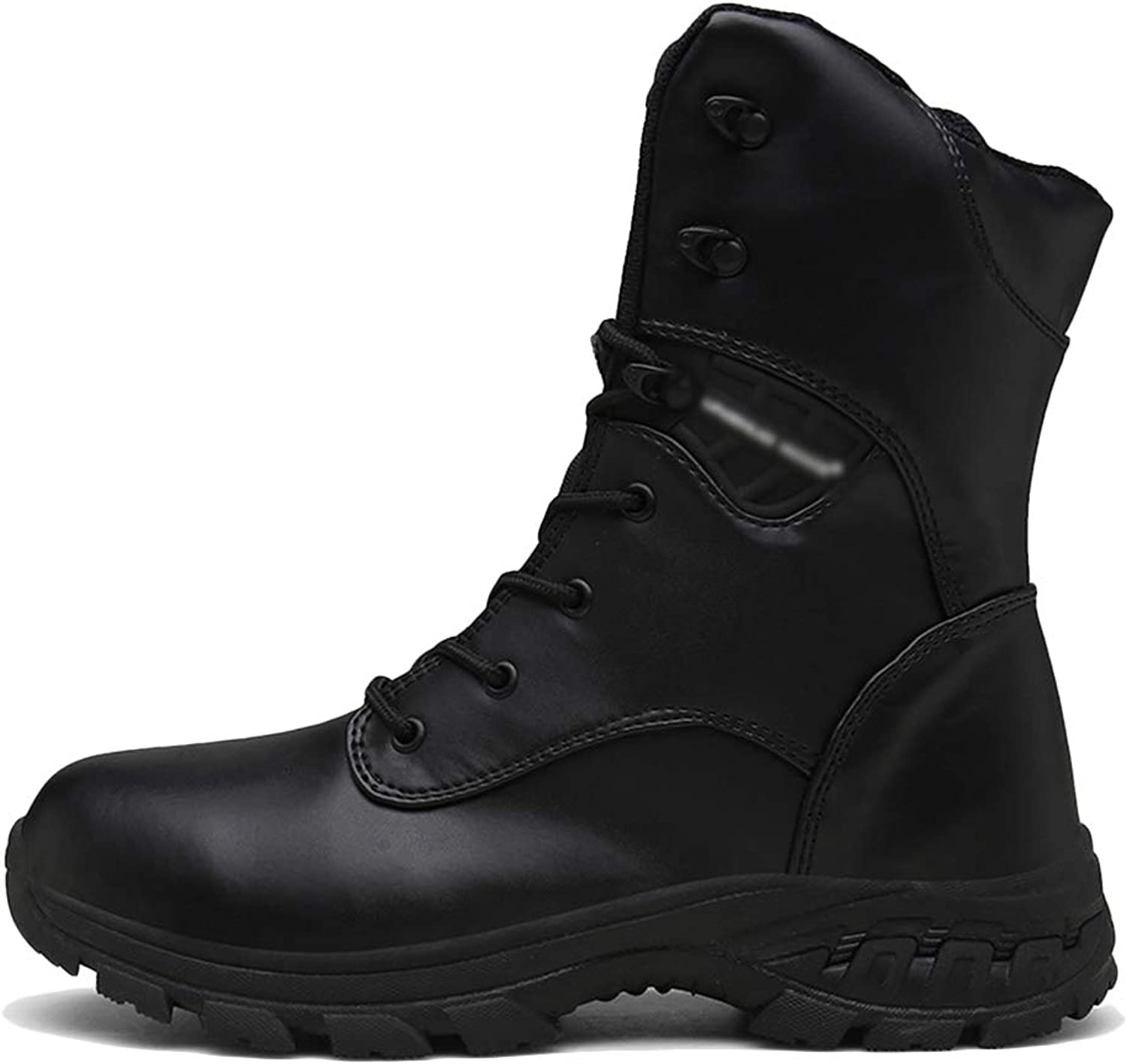 LIUYL men's Combat Boot Military Police Boot Climbing shoes Walking Work Ankle Boots Camo Desert tactical Outdoor Waterproof Boot,Black-42