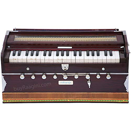 Harmonium - 9 Stop - Sangeeta - 3 1/2 Octave - Coupler Function, Book, Bag - Tuned To A440 - Mahogany Color