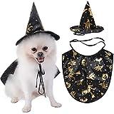 Legendog Disfraz de Perro de Halloween Novedad Creativa Traje de Fiesta de Ropa para Mascotas con Sombrero de Bruja