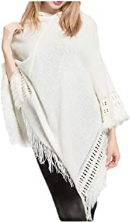 neveraway Womens Winter Knit Fringe Wrap Shawl Poncho Coat Plus Size Jacket