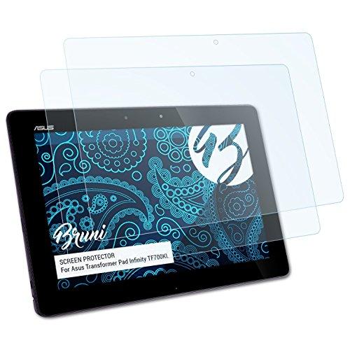 Bruni Schutzfolie kompatibel mit Asus Transformer Pad Infinity TF700KL Folie, glasklare Bildschirmschutzfolie (2X)
