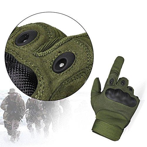 Limirror Herren Taktische Handschuhe Handschuhe Fahrradhandschuhe Motorrad Handschuhe outdoor sport Handschuhe Fitness Handschuhe Army Gloves Ideal für Airsoft, Militär, Paintball, Airsoft, Jag (Grün, L) - 4