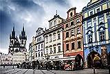 Pintura Por Números, Kit De Pintura Acrílica Al Óleo Para Bricolaje Para Adultos Y Niños Principiantes, Kits De Pintura De Números De 16X20 Pulgadas - Plaza De La Ciudad Vieja De Praga