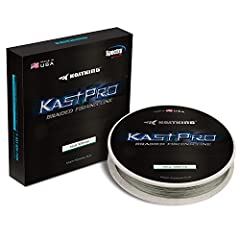 "Made in USA - kastpro 4 carrier spectra Braid fishing line is proudly manufactured in the USA in our ISO 9001 and aerospace as 9100 certified facility to ensure the highest quality possible. Aggressive ""diamond weave"" - thin but exceptional strong ""d..."
