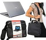 Navitech Schwarz Prime Case/Cover Trage Tasche für das ASUS EeeBook X205TA