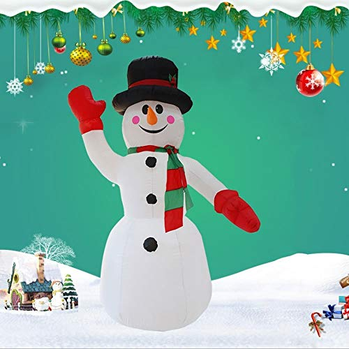 QTRT 7.9ft Christmas Inflatable Snowman With Hat,Air Blown Inflatable Model Garden Christmas Inflatable Toys With LED Lights Lighted Yard Playground Art New Year Decoration