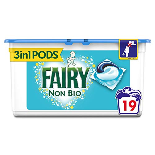 Fairy Non Bio lavado cápsulas 19per pack