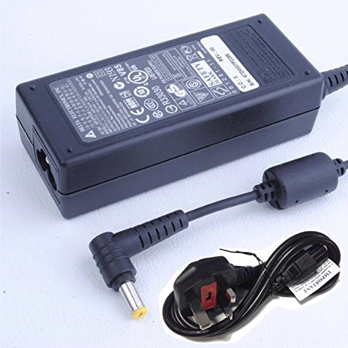 65W Charger for Acer Aspire 5741A 5315 5532 5551 5736 5740 5742 5750 Laptop - Original Delta Electronics Notebook AC Adapter Power Supply Plug - 19V 3.42A - with UK Power Cord and Cable Holder