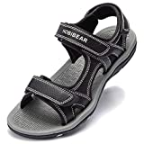 GUBARUN Athletic Sandals for Men Open-Toe Sandals Strap Summer Shoes (7, Black 1)