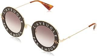 Sunglasses Gucci GG 0113 S- 001 BLACK/GREY GOLD