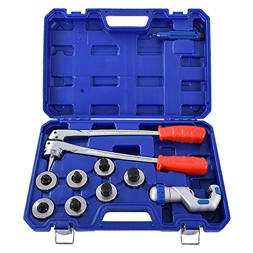 S SMAUTOP Expansor de tubo de cobre, Expansor de tubo CT-100A, Kit de herramientas de expansión de tubo de tubo de cobre, 3/8 a 1-1/8 pulgadas