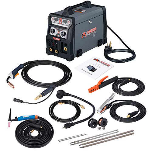 Amico 165 Amp MIG/Flux Cord Wire, TIG Torch, Stick Arc Welder 3-in-1 Combo Weiding (165A MIG TIG Stick Arc Welder)