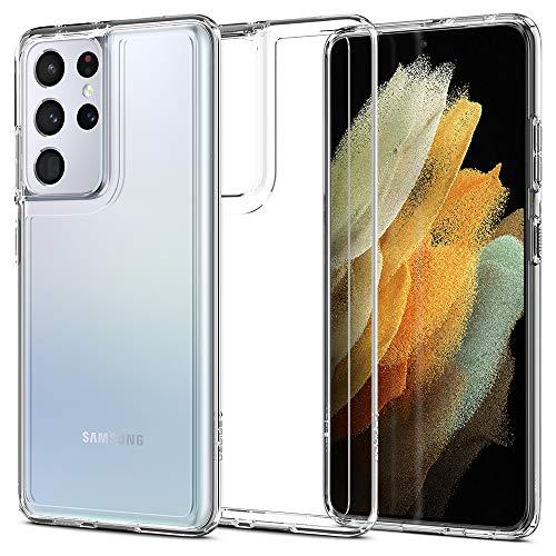 Spigen Cover Ultra Hybrid Compatibile con Samsung Galaxy S21 Ultra - Crystal clear