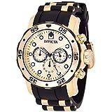 [インビクタ] 腕時計 Pro Diver 石英 48mm ケース ゴールド ブラック ステンレススチール ポリウレタンストラップ ゴールドダイヤル 17885 メンズ 正規輸入品 [並行輸入品]