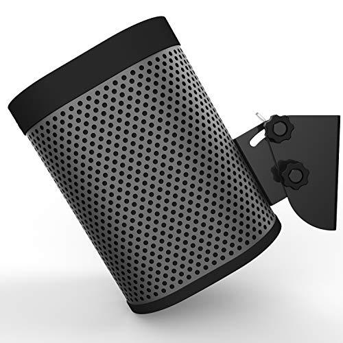 X-Super Home Soporte de Pared para SONOS Play:1 Mecanismo de inclinación de Marco de Metal sin Herramienta de instalación rápida para Sujetar Altavoces de Audio Instalación en Techo