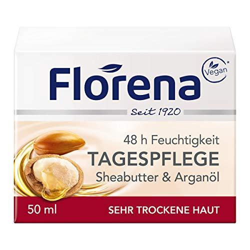 Florena Tagespflege mit Sheabutter & Arganöl, Vegan, 1er Pack (1 x 50 ml)