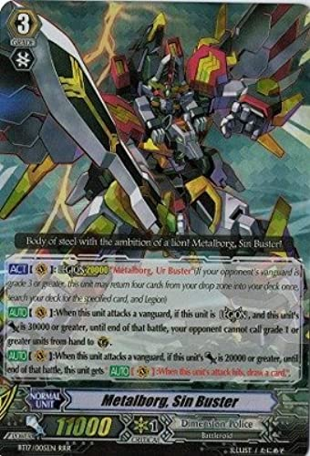 Cardfight   Vanguard TCG - Metalborg, Sin Buster (BT17 005EN) - Booster Set 17  Blazing Perdition ver.E by Cardfight   Vanguard TCG