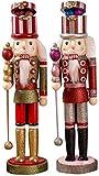 2 Piezas / Paquete   Adorno de Cascanueces de Navidad de 15 Figuras de Cascanueces de Navidad Soldado de Madera Cascanueces Accesorios de decoración de Navidad Figura de decoración de muñecas