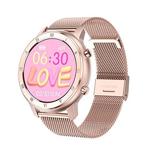 ZYD DT89 Mujeres Reloj Elegante ECG Monitor De Ritmo Cardíaco Reloj De Pulsera para Hombres, Mujeres Recordatorio IP68 Mujer Pulsera De Llamadas VS KW10 NY12 Reloj,C