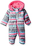 Wippette Baby Girls Striped Snowsuit Pram, Charcoal, 3/6M